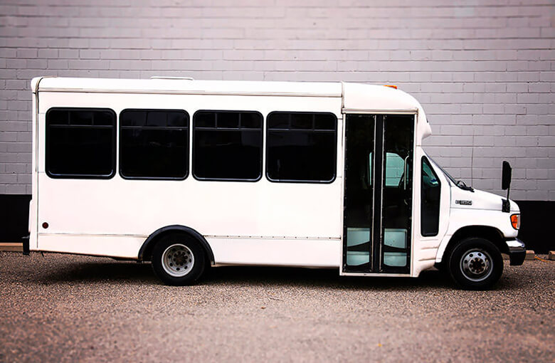 20 passenger party bus white